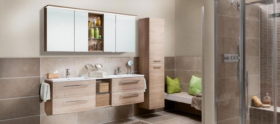 braunes badezimmer spiegelschrank